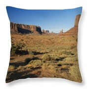 Sunset On Towers Throw Pillow