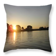 Sunset On Walter Wirth Lake Throw Pillow