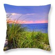 Sunset On Wellfleet Dunes Throw Pillow