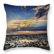Sunset Over Bound Brook Island Throw Pillow