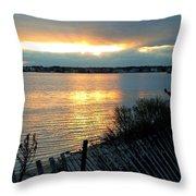 Sunset Over Cedar Creek Throw Pillow
