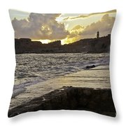 Sunset Over Dubrovnik 2 Throw Pillow