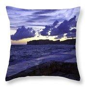 Sunset Over Dubrovnik Throw Pillow
