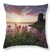 Sunset Over Dunguaire Castle, Kinvara Throw Pillow