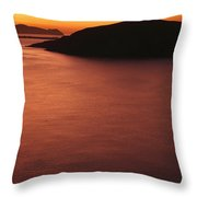 Sunset Over Dunmore Head Throw Pillow