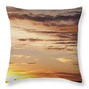Sunset Over Grain Bins Throw Pillow