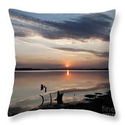 Sunset Over Lovewell Lake Throw Pillow