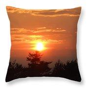Sunset Over Maine Throw Pillow