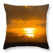 Sunset Over Miami Throw Pillow
