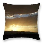 Sunset Over Mt Charleston Throw Pillow