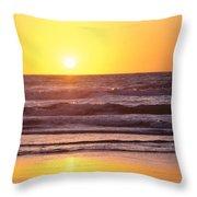 Sunset Over Ocean Throw Pillow