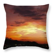 Sunset Over Pigeon Forge Throw Pillow