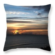 Sunset Over Poole Bay Throw Pillow