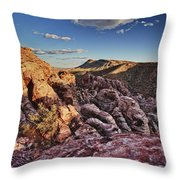 Sunset Over Red Rocks Throw Pillow