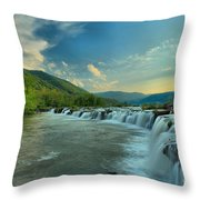 Sunset Over Sandstone Throw Pillow