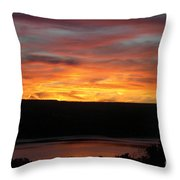 Sunset Over Seneca Lake Throw Pillow