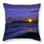 Sunset Over The Adriatic Throw Pillow