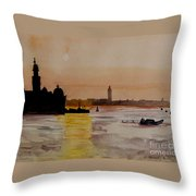 Sunset Over The Bay Throw Pillow