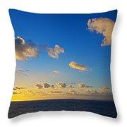Sunset Over The Caribbean Sea Throw Pillow