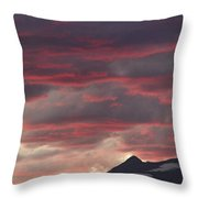 Sunset Over The Colorado Rocky Mountain Continental Divide Throw Pillow