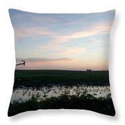 Sunset Over The Fields Throw Pillow