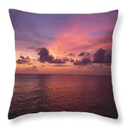 Sunset Over The Gulf Of Mexico Throw Pillow