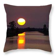 Sunset Over The Lagoon Throw Pillow
