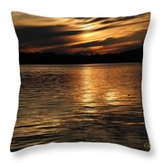 Sunset Over The Lake - 3rd Place Win Throw Pillow