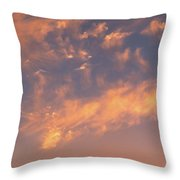 Sunset Over The Moscow River Throw Pillow