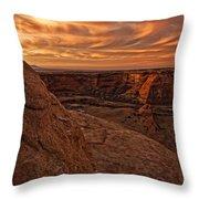 Sunset Over The Rim Of Canyon De Throw Pillow