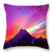 Sunset Over The Sierras Throw Pillow