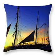 Sunset Over The Star Of India Throw Pillow
