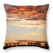 Sunset Over The Tree Line Throw Pillow