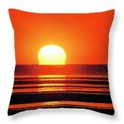 Sunset Over Tidal Flats Throw Pillow