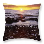 Sunset Over Water, Newfoundland, Canada Throw Pillow