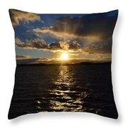 Sunset Over Winnepesaukee Throw Pillow