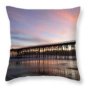 Sunset Pier San Simeon California 1 Throw Pillow