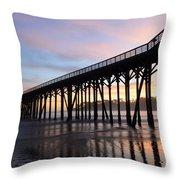 Sunset Pier San Simeon California 2 Throw Pillow