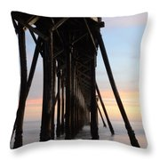 Sunset Pier California 3 Throw Pillow