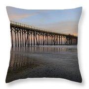Sunset Pier  California 5 Throw Pillow