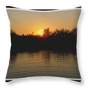 Sunset Pond Throw Pillow