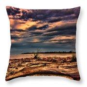 Sunset Rocks Throw Pillow