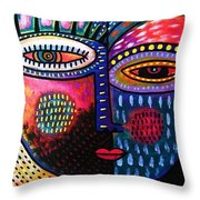 Sunset Rose Goddess Throw Pillow