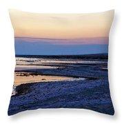 Sunset Salton Sea North Throw Pillow