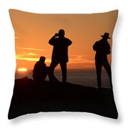 Sunset Silouettes Throw Pillow
