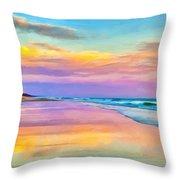 Sunset South Of Todos Santos Throw Pillow
