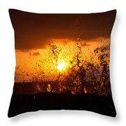 Sunset Splash 2 Throw Pillow
