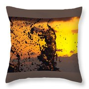 Sunset Splash 3 Throw Pillow