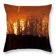 Sunset Splash 6 Throw Pillow