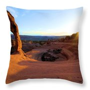 Sunset Starburst Throw Pillow
